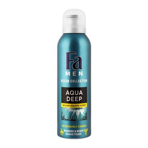 Fa Men Aqua Deep Intensely Caring Shower & Body Shave Foam, 200ml