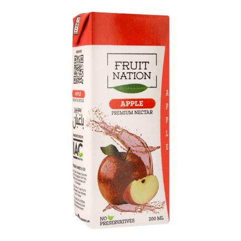 Fruit Nation Apple Premium Nectar Fruit Drink, 200ml