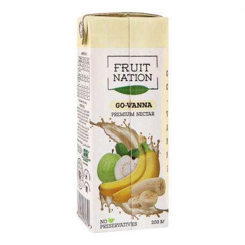 Fruit Nation Go-Vanna Premium Nectar Fruit Drink, 200ml