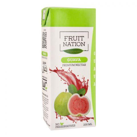 Fruit Nation Guava Premium Nectar Fruit Drink, 200ml