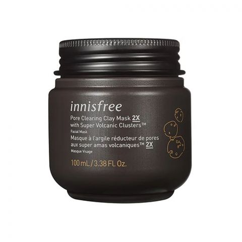 Innisfree Pore Clearing Clay Mask 2X, With Super Volcanic Clusters, 100ml