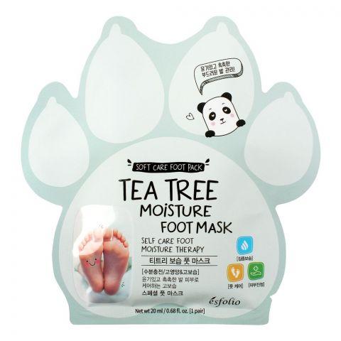 Esfolio Tea Tree Moisture Foot Mask 100ml, 5 Pairs