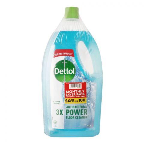 Dettol Multi-Purpose Aqua Cleaner, 1.8 Liters, With Hand Wash, 150ml