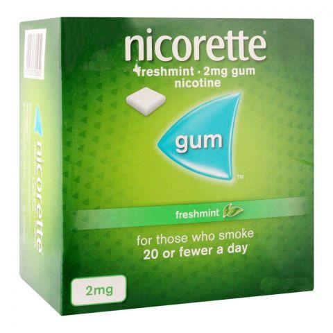 Nicorette Freshmint Gum, 2g, 1 Strip (15 Tablets)