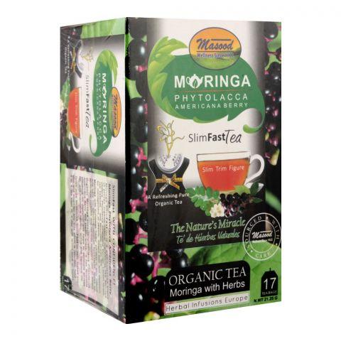 Masood Moringa Phytolacca Americana Berry Slim Fast Tea, 17 Tea Bags