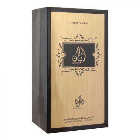 Al Wataniah Abaan Eau De Parfum, Fragrance For Men, 100ml