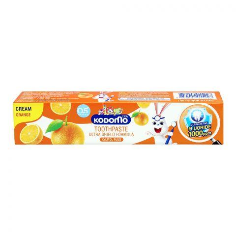 Kodomo Ultra Shield Formula Cream Toothpaste, Orange, 40g