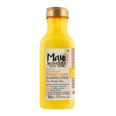 Maui Moisture Body Care Lightly Hydrating + Pineapple Papaya In-Shower Lotion, 384ml