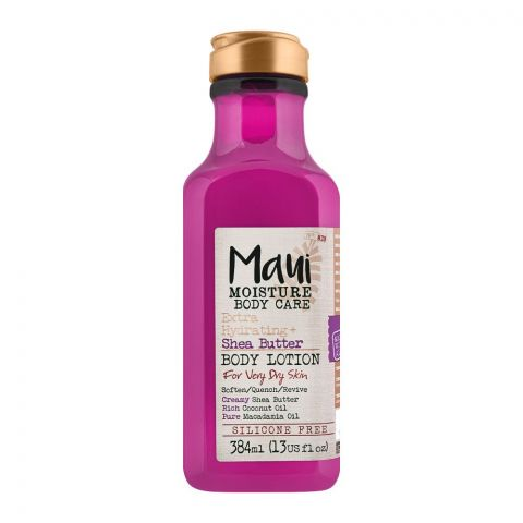 Maui Moisture Body Care Extra Hydrating + Sha Butter Body Lotion, For Very Dry Skin, 384ml