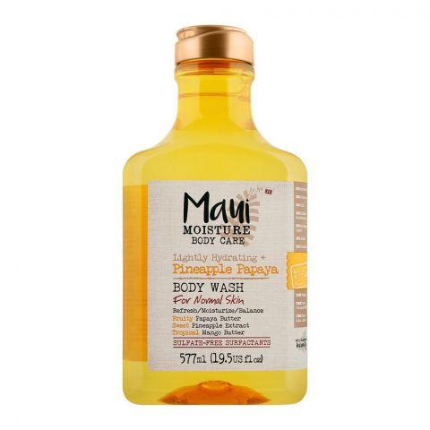 Maui Moisture Body Care Lightly Hydrating + Pineapple Papaya Body Wash, For Normal Skin, 577ml