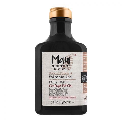 Maui Moisture Body Care Detoxifying + Volcanic Ash Body Wash, For Rough & Dull Skin, 577ml
