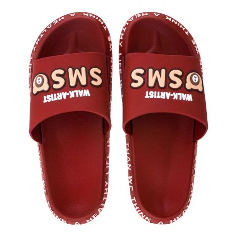 Women's Slippers, R-3, Maroon
