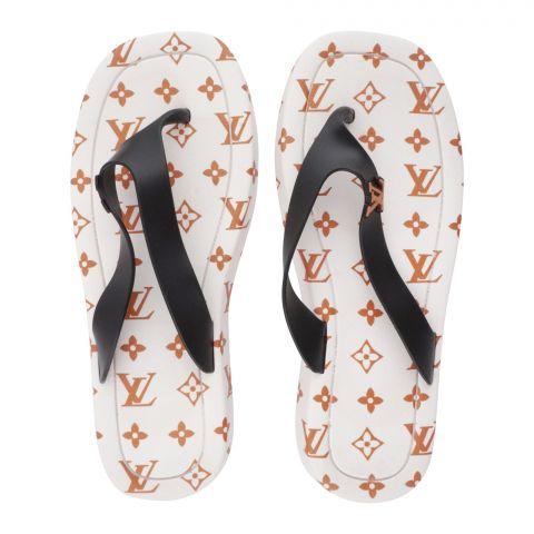 Women's Slippers, R-10, White