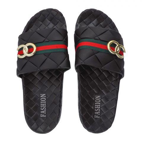 Women's Slippers, R-12, Black