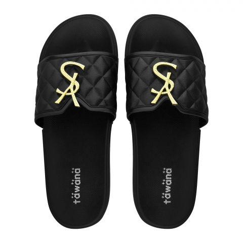 Women's Slippers, R-18, Black