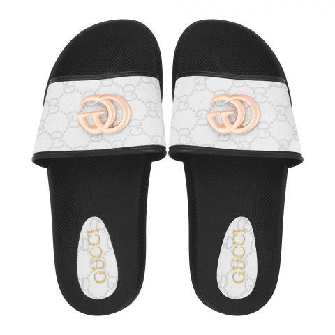 Women's Slippers, R-28, White