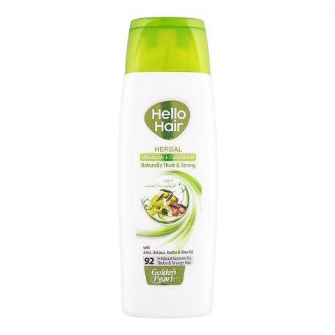 Golden Pearl Hello Hair Herbal Shampoo + Conditioner, 190ml