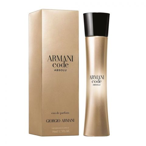 Giorgio Armani Code Absolu Eau De Parfum, Fragrance For Men, 75ml