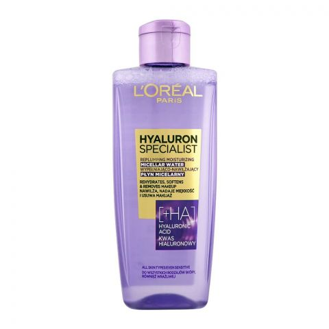 L'Oreal Paris Hyaluron Specialist Replumping Moisturizing Micellar Water, All Skin Types, 200ml