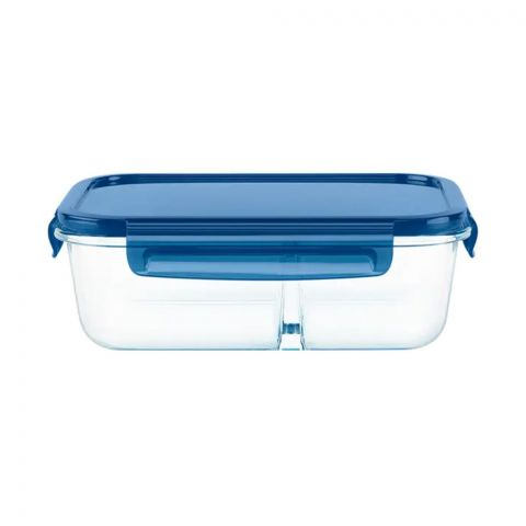 Pyrex Mealbox 5.5 Cup Divided Glass Food Storage With Lid, 1138858
