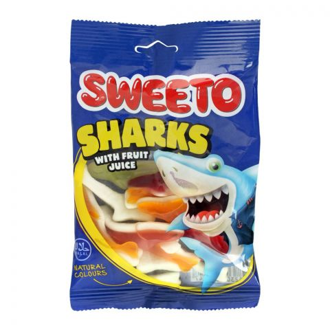 Sweeto Sharks Gummy Jelly Pouch, 80g