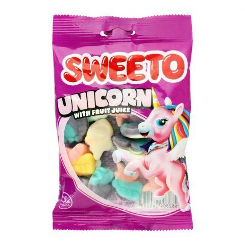 Sweeto Unicorn Gummy Jelly Pouch, 80g