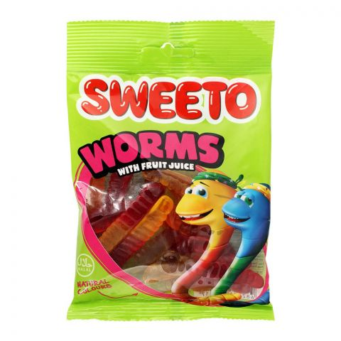 Sweeto Worms Gummy Jelly Pouch, 80g