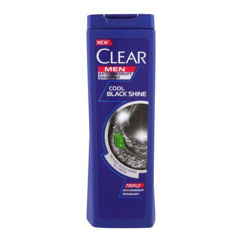 Clear Men Triple Anti-Dandruff Cool Black Shine Shampoo, 380ml