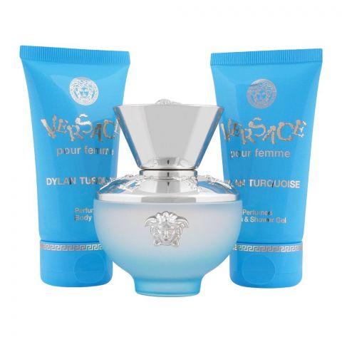Versace Dylan Turquoise Pour Femme Perfume Set For Women, EDT 50ml + Body Gel + Shower Gel