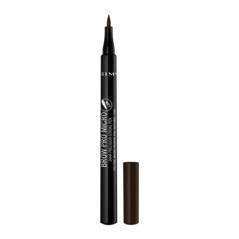 Rimmel Brow Pro Micro 24Hr Precision Stroke Pen, 004 Dark Brown