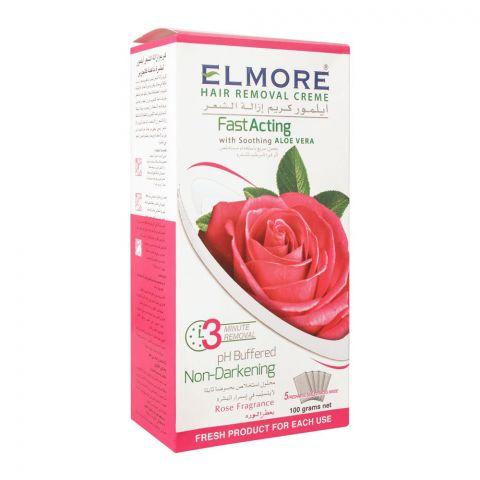 Elmore Rose Fast Acting Hair Removal Cream, 5 Sachet, 100g