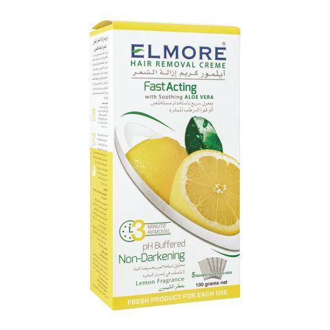 Elmore Lemon Fast Acting Hair Removal Cream, 5 Sachet, 100g