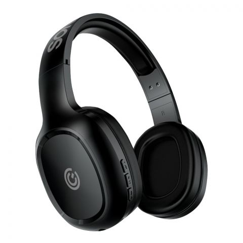 SonicEar Airphone 3 On Ear Bluetooth Headphones, Black