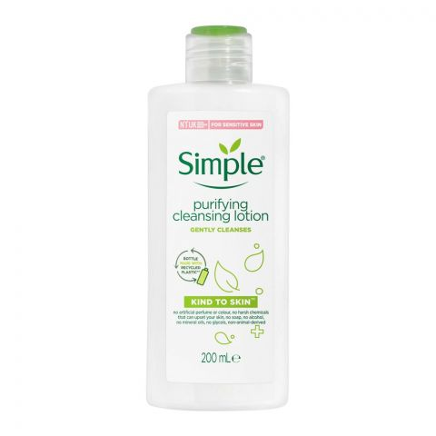 Simple Kind To Skin Purifying Cleansing Lotion, 200ml