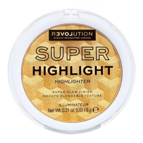 Makeup Revolution Relove Super Highlight Highlighter, Gold