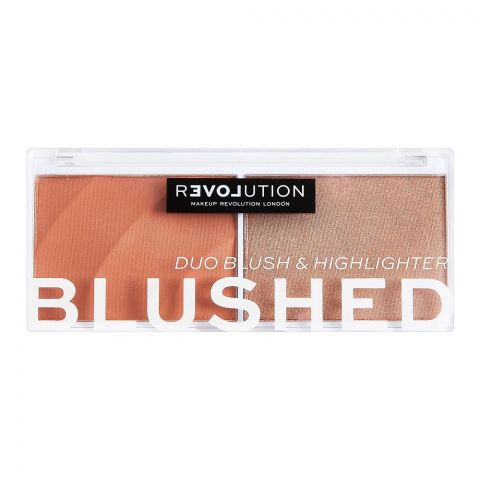 Makeup Revolution Relove Blushed Duo Blush & Highlighter, Queen