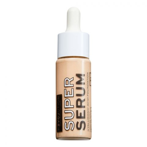 Makeup Revolution Relove Super Serum Hyaluronic Acid Foundation, F1