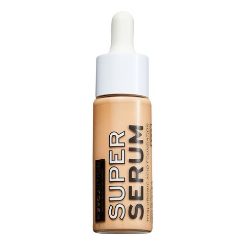 Makeup Revolution Relove Super Serum Hyaluronic Acid Foundation, F8.5