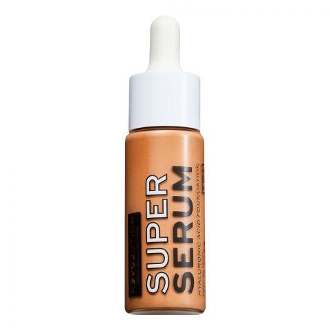Makeup Revolution Relove Super Serum Hyaluronic Acid Foundation, F10.5