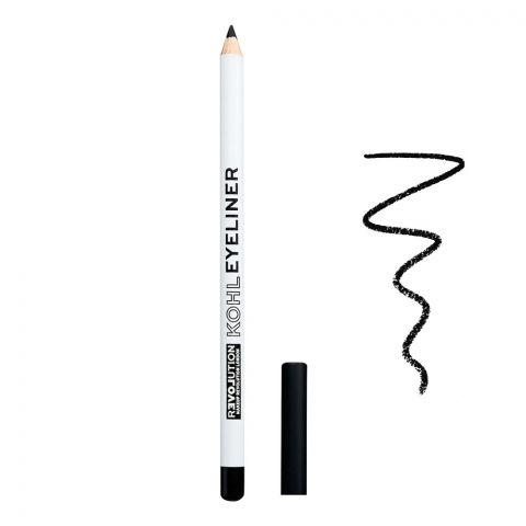 Makeup Revolution Relove Kohl Eyeliner Pencil, Black