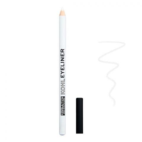 Makeup Revolution Relove Kohl Eyeliner Pencil, White