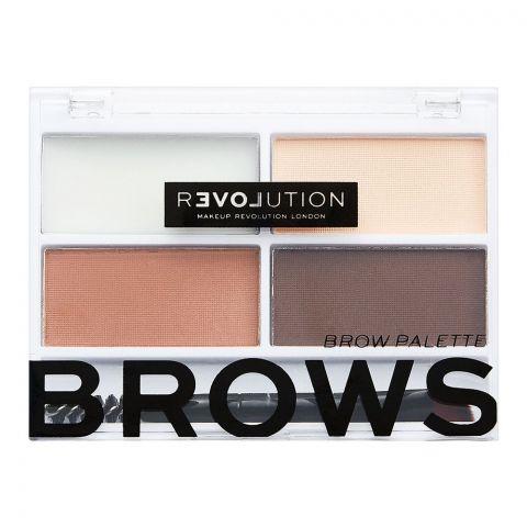 Makeup Revolution Relove Colour Cult Brow Palette, Medium
