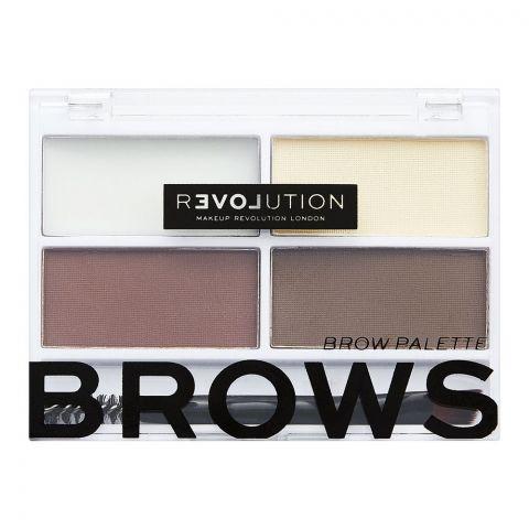 Makeup Revolution Relove Colour Cult Brow Palette, Dark