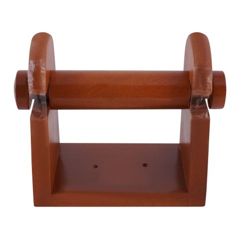 Amwares Mango Wood Wall Tissue Stand, Small, 5x3x5.5 Inches, 009003