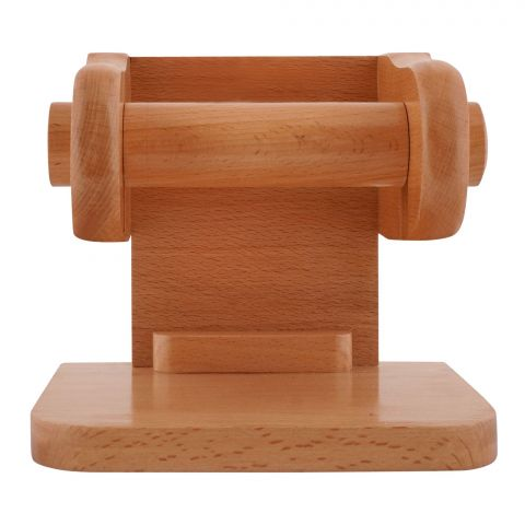 Amwares Beech Wood Wall Tissue Stand Small, 009021