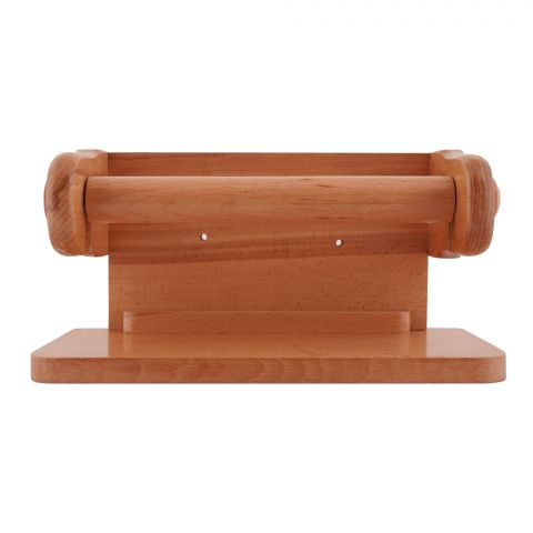 Amwares Beech Wood Wall Tissue Stand Large, 009022