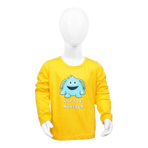 Baby Nest Full Sleeves T-Shirt, Yellow