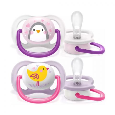 Avent Ultra Air Animals Soothers, 2-Pack, 0-6m, SCF080/06