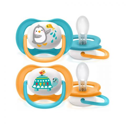 Avent Ultra Air Animals Soothers, 2-Pack, 6-18m, SCF080/07
