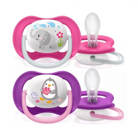 Avent Ultra Air Animals Soothers, 2-Pack, 6-18m, SCF080/08